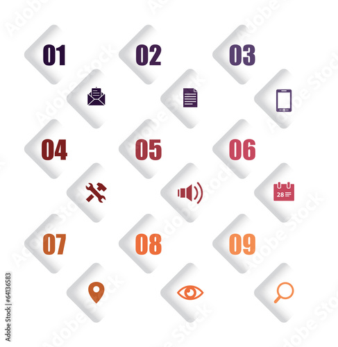 infographic number icons
