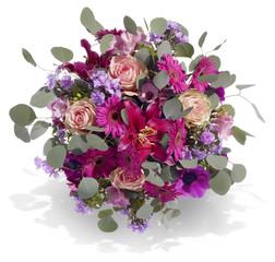 Blumenstrauß in Violett / Rosa