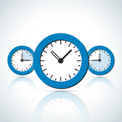 Blue business styled clock icons