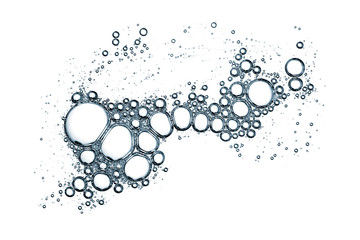 Bubbles pattern over white background