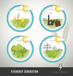 Bioenergy and power generation icons