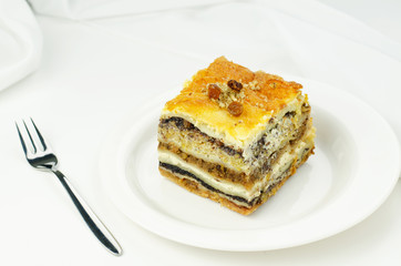 Prekmurian layer cake. National speciality of Slovenia