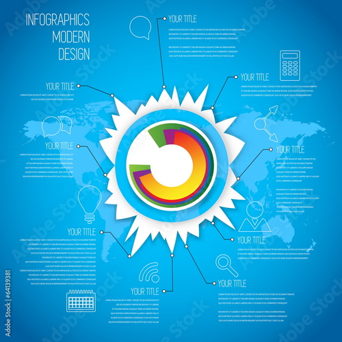 Time Line infographics design template with diagram set. Idea to