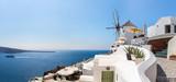 Fototapety View of Fira town - Santorini island,Crete,Greece.