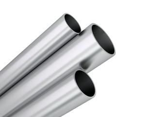 Aluminium Rohre Profile aufsteigend