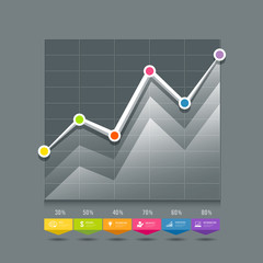 Modern Graphs info-graphic and icons