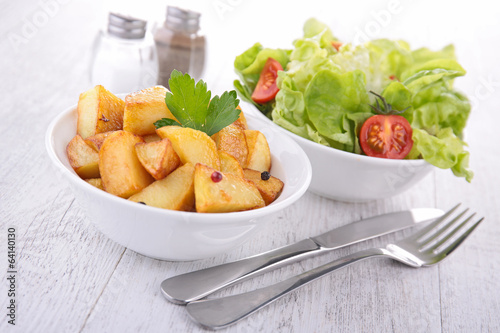 potato and salad