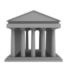 realistic 3d render of doric temple