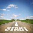 Straße mit START
