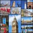 London - city collage, photo memories