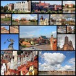 Poland - city collage, photo memories