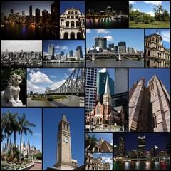 Brisbane - city collage, photo memories
