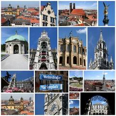Munich photos - city collage, photo memories