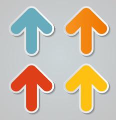 Infographic Arrow Icon. Vector Illustration.