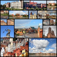 Poland - city collage, photo memories