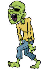 Vector illustration of Cartoon zombie