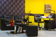 luxurious interior of a beauty salon
