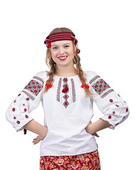 Ukrainian girl posing with hands on hips