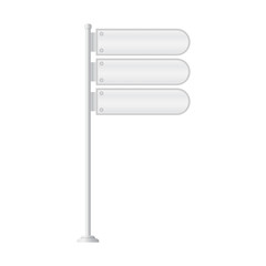 Vector of metal signpost on isolated white background
