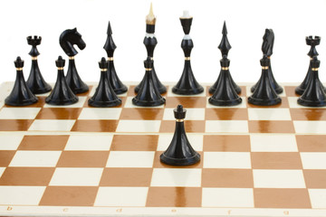 black pawn in front of black chess