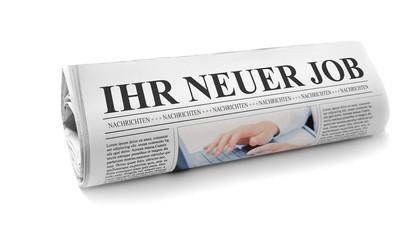 """Zeitung mit """"Ihr neuer Job"""""""