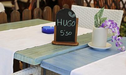 After work ein Hugo im Freien!