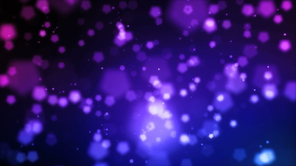 Abstract animation of glittering particles and lights