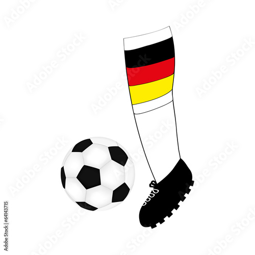 foot football player with the flag of Germany and the ball