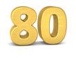 zahl cipher 80 gold vertikal