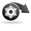 flocon sur symbole noir