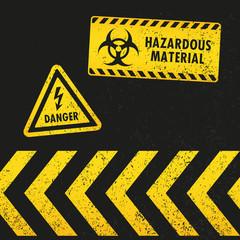 Grunge Hazard Warning