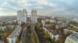 View from unmanned quadrocopter to Housing Complex poster