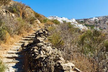Wanderweg nach Tholaria auf Amorgos, Griechenland