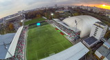 View from unmanned quadrocopter to Stadium poster