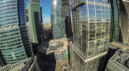 View from unmanned quadrocopter to towers