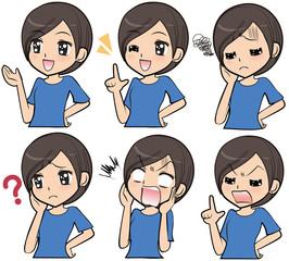 女性表情セット