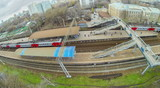 View from unmanned quadrocopter to train is coming poster