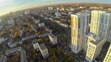View from unmanned quadrocopter to Housing Complex Bogorodskiy poster