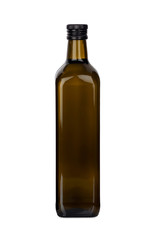 Flasche Olivenöl mit Schraubverschluß, isoliert