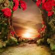 Romantic garden landscape - 64145512