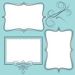 Retro design element or frame