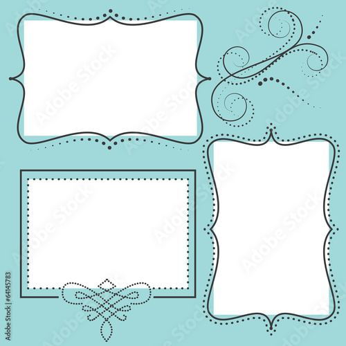 Retro design element or frame - 64145783