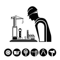project management and construction icons