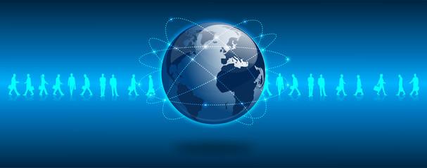 satelliti, satellite, mondo, rete, connessione