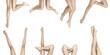 Girl legs on white background 5