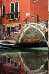 Venice bridge over canal