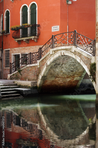 Venice bridge over canal