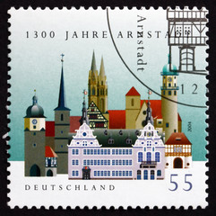 Postage stamp Germany 2004 View of Arnstadt, Thuringia