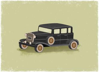Antique motor car
