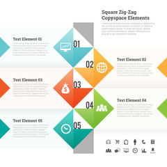 Square Zig Zag Copyspace Design Element
